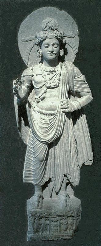 Moustache - Image: Standing Bodhisattva Gandhara Musee Guimet