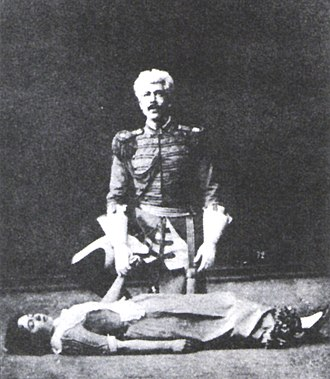 Konstantin Stanislavski - Stanislavski with his soon-to-be wife Maria Lilina in 1889 in Schiller's Intrigue and Love.
