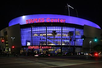2000 Democratic National Convention - The Staples Center was the site of the 2000 Democratic National Convention