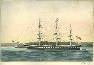 HMAS Tingira - Watercolor of Sobraon by Charles Collinson Rawson