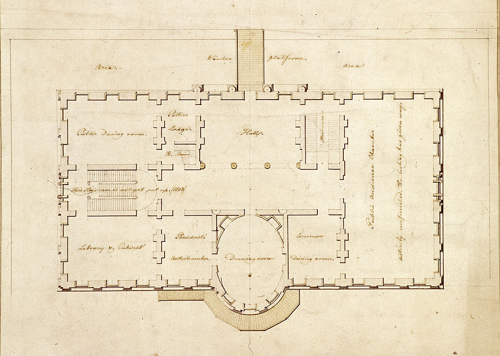 file:state floor plan - white house - 1803 - wikimedia commons