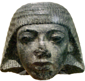 Ramesses I - Stone head carving of Paramessu (Ramesses I), originally part of a statue depicting him as a scribe. On display at the Museum of Fine Arts, Boston.