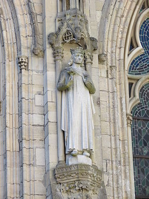 Drogo of Hauteville - A statue of Drogo was erected on the cathedral of Notre-Dame de Coutances in 1875, to replace an original destroyed in the Revolution.