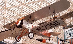 Stearman C3 - Stearman C3B in 1927 markings of Western Air Express airmail route CAM 12 at the Museum of Flight in Seattle