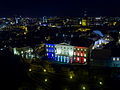 Stenbock House, the seat of the Estonian Government, in French flag colours - 23043851772.jpg