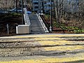 Steps to westbound lanes at Fairbanks station, April 2016.JPG