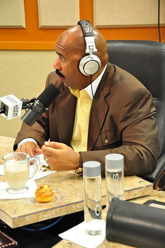 Steve Harvey - Harvey hosting his syndicated radio show in 2010