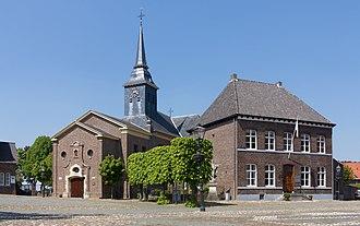 Stevensweert - Stevensweert, church (de Sint Stephanuskerk) en de presbytery