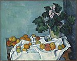 Still Life with Apples and a Pot of Primroses, by Paul Cézanne.jpg