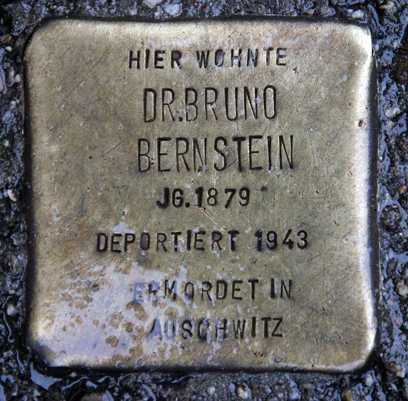 Stolperstein Alt-Köpenick 18 (Köpen) Bruno Bernstein.jpg