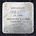 Stolperstein Auf dem Grat 43 (Dahle) Max Levy.jpg