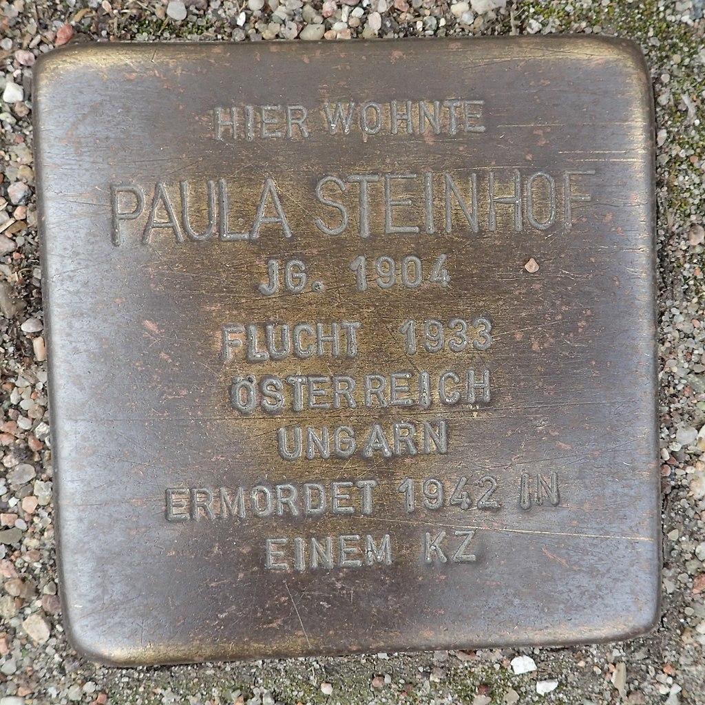 Stolperstein für Paula Steinhof