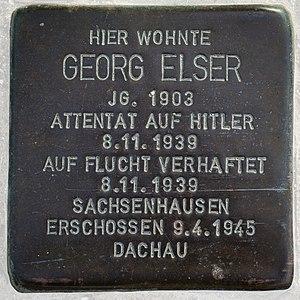 Hermaringen - Stolperstein Georg Elser in Hermaringen