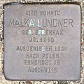 Stolperstein HB-Fliederstrasse 41a - Malka Lundner - 1910.jpg