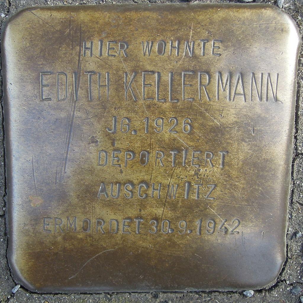 Stolperstein Ratingen Hans-Böckler-Straße 1 Edith Kellermann