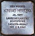 Stolperstein Salzburg, Konrad Hertzka - Wolf-Dietrich-Straße 18.jpg