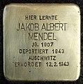 Stumbling block for Jakob Albert Mendel (Schaurtestrasse 1)