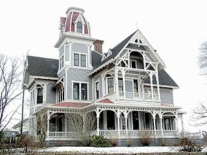 Stony Creek–Thimble Islands Historic District - A Gothic Victorian house in Stony Brook