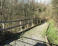 Storeton station, slope to southbound platform.jpg
