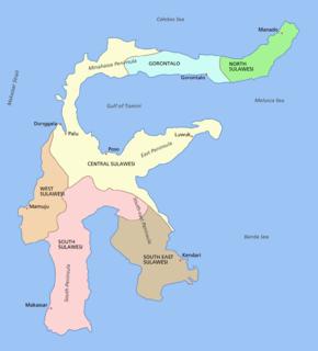Sulawesi island of Indonesia