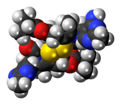 Space-filling model of the sulbutiamine molecule