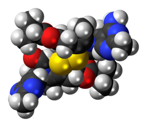 Sulbutiamine - Image: Sulbutiamine 3D spacefill