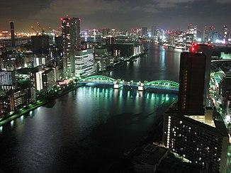 The Sumida at night