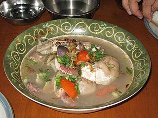 Sup kambing Indonesian dish