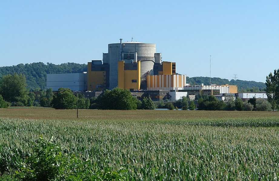 Superphenix, Nuclear power plant of Creys-Malville, east side, Isère, France.