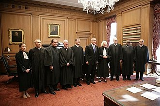 Supreme Court of the United States - Justices of the Supreme Court with President George W. Bush (center), October 2005.