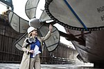 Susan Ford with propeller of USS Gerald R. Ford (CVN-78) 2013.JPG