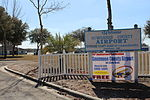 Suwannee County Airport sign and entrance.JPG