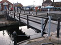 Swing footbridge and lock gates at the entrance to Exeter Canal Basin (4).JPG