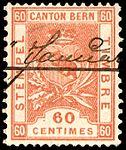 Switzerland Bern 1892-1902 revenue 60c - 45A V-99.jpg