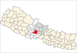 map of Syangja, Nepal