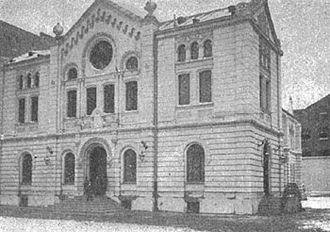 Nożyk Synagogue - The synagogue in 1909