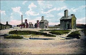Onondaga Lake - Salt Wells at Syracuse, New York c. 1900