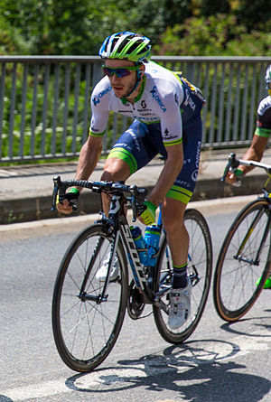 Adam Yates (cyclist) - Yates riding at the 2015 Tour de France