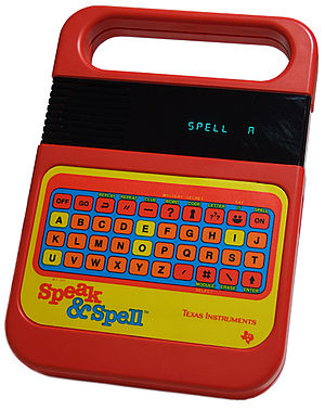 Texas Instruments LPC Speech Chips - Image: TI Speak Spell no shadow