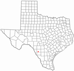 Location of Crystal City, Texas