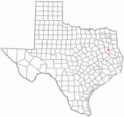 Location of Reklaw, Texas