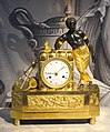 Table clock, dial signed by Ephraim Hedstrom, Stockholm, case is probably French, c. 1810, gilt bronze - Nordiska museet - Stockholm, Sweden - DSC09841.JPG