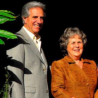 Tabaré Vázquez - Vázquez and his wife, First Lady María Auxiliadora Delgado.