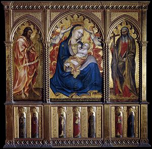 Taddeo di Bartolo - Image: Taddeo di bartolo, Virgin and Child with St John the Baptist and St Andrew