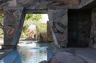 Taliesin West - Taliesin West's pool and fountain