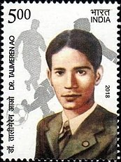 Postal stamp issued in 2018, to honour Talimeren Ao Talimeren Ao 2018 stamp of India.jpg