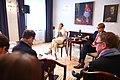 Tallinn Digital Summit press presentation by President Kersti Kaljulaid Digital innovation and Estonia's ambitions Kersti Kaljulaid and Taavi Linnamäe (37368780491).jpg