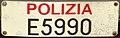 Targa automobilistica Italia 1985 E5990 Polizia Nazionale anteriore.jpg