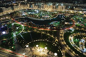 Tashkent City Park at night 2019.jpg