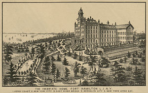 Washingtonian movement - The Inebriate Home of Long Island, detail from the Taylor Map of New York (1879)